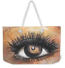 Watercolor Eye Weekender Tote Bag