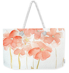 Watercolor Flower Field Weekender Tote Bag