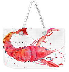 Watercolor Illustration Of Lobster Weekender Tote Bag