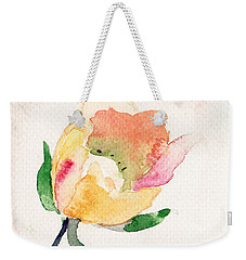 Watercolor Illustration With Beautiful Flower  Weekender Tote Bag