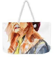 Watercolor Portrait Of An Old Lady Weekender Tote Bag by Greta Corens