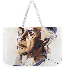 Watercolor Portrait Sketch Of A Man In Monochrome Weekender Tote Bag