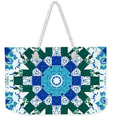Watercolor Quilt Weekender Tote Bag