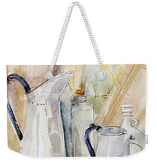 Watercolor Still Life Of White Cans Weekender Tote Bag