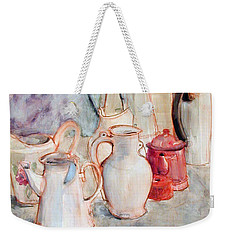 Watercolor Still Life With Red Can Weekender Tote Bag