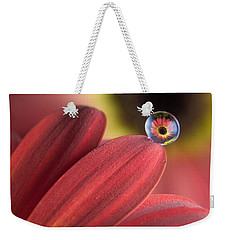Waterdrop On Flower Petal Weekender Tote Bag