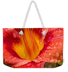 Watered Lily Weekender Tote Bag