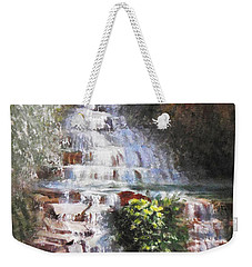 Waterfall Garden Weekender Tote Bag