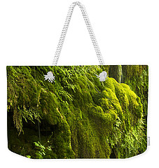 Weekender Tote Bag featuring the photograph Waterfall In Green by Bryan Keil