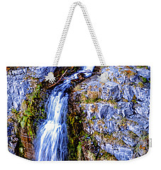 Waterfall-mt Timpanogos Weekender Tote Bag