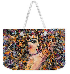 Waterfall Nude Weekender Tote Bag by Natalie Holland