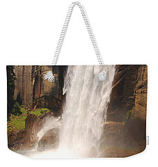 Weekender Tote Bag featuring the photograph Waterfall Rainbow by Mary Carol Story