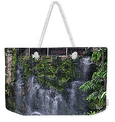 Weekender Tote Bag featuring the painting Waterfall by Sergey Lukashin