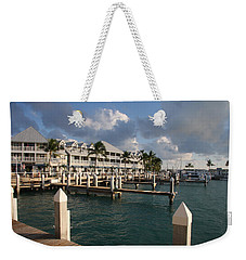 Weekender Tote Bag featuring the photograph Waterfront Key West by Christiane Schulze Art And Photography
