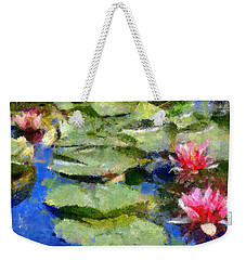 Waterlilies From Giverny Weekender Tote Bag by Dragica  Micki Fortuna