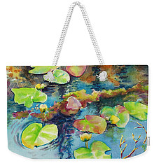 Waterlilies In Shadow Weekender Tote Bag