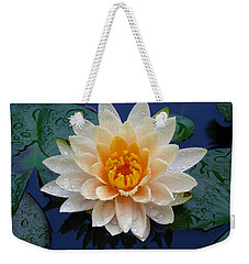 Waterlily After A Shower Weekender Tote Bag