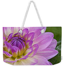 Waterlily Dahlia Weekender Tote Bag