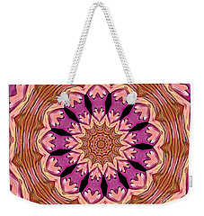 Weekender Tote Bag featuring the photograph Waterlily Flower Kaleidoscope 2 by Rose Santuci-Sofranko