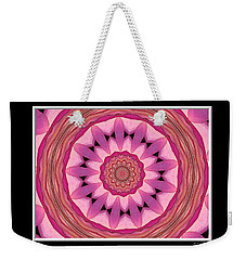 Weekender Tote Bag featuring the photograph Waterlily Flower Kaleidoscope 3 by Rose Santuci-Sofranko