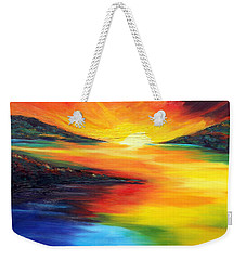 Weekender Tote Bag featuring the painting Waters Of Home by Meaghan Troup