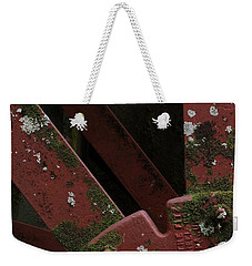 Weekender Tote Bag featuring the photograph Waterwheel Up Close by Daniel Reed