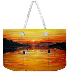 Watery Sunset At Bala Lake Weekender Tote Bag