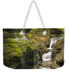 Watkins Glen Falls Weekender Tote Bag by Anthony Sacco