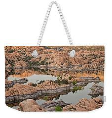 Watson Lake Sunset Weekender Tote Bag