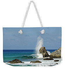 Wave At Boldro Beach Weekender Tote Bag by Vivian Christopher