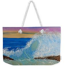 Wave At Sunrise Weekender Tote Bag