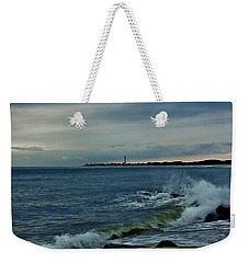 Wave Crashing At Cape May Cove Weekender Tote Bag by Ed Sweeney