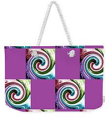 Weekender Tote Bag featuring the digital art Wave Of Purple 2 by Ann Calvo