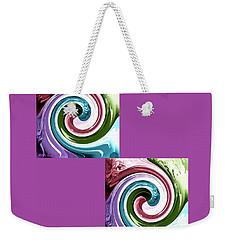 Wave Of Purple Weekender Tote Bag