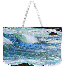 Weekender Tote Bag featuring the photograph Wave To Me by Mariarosa Rockefeller