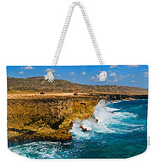 Waves Breaking At The Coast, Aruba Weekender Tote Bag