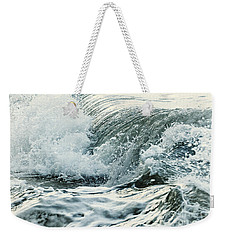 Waves In Stormy Ocean Weekender Tote Bag