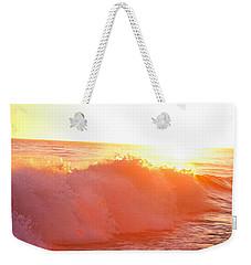 Waves In Sunset Weekender Tote Bag