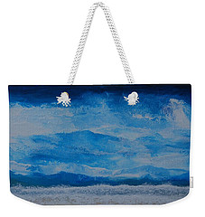 Weekender Tote Bag featuring the painting Waves by Linda Bailey