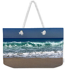 Weekender Tote Bag featuring the photograph Waves Of Happiness  by Cindy Greenstein