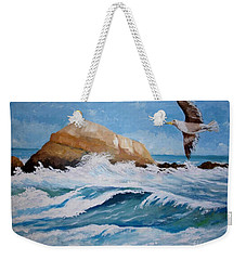 Waves Of The Sea Weekender Tote Bag