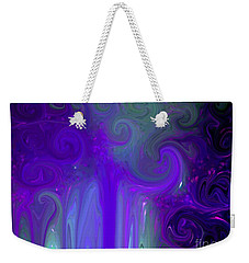 Waves Of Violet - Abstract Weekender Tote Bag