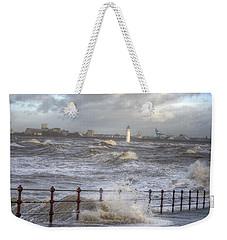 Waves On The Slipway Weekender Tote Bag