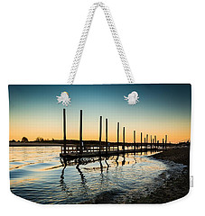 Wavy Sunset Kings Park New York Weekender Tote Bag