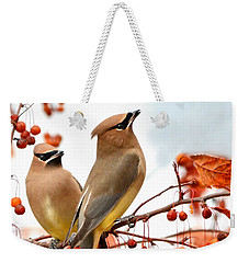 Beautiful Waxwing  Weekender Tote Bag