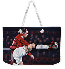 Wayne Rooney Weekender Tote Bag by Paul Meijering