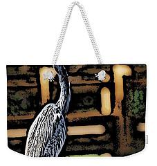 Weekender Tote Bag featuring the digital art Wc Great Blue by David Lane