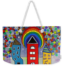 We Choose To Serve - Original Whimsical Folk Art Painting Weekender Tote Bag