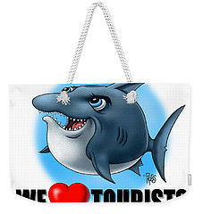 We Love Tourists Shark Weekender Tote Bag