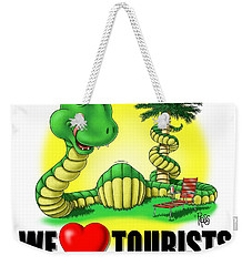 We Love Tourists Snake Weekender Tote Bag